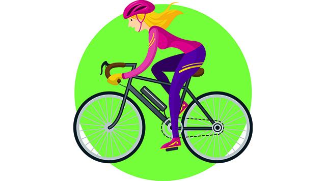 Bicycle Riders, Man, Woman, People